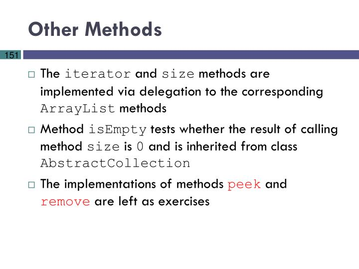 Other Methods