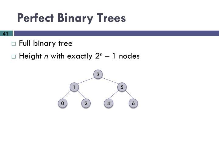 Perfect Binary Trees