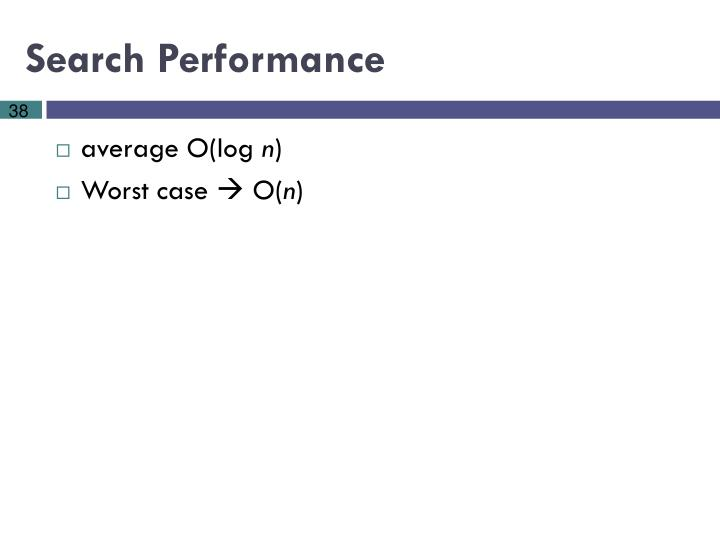 Search Performance