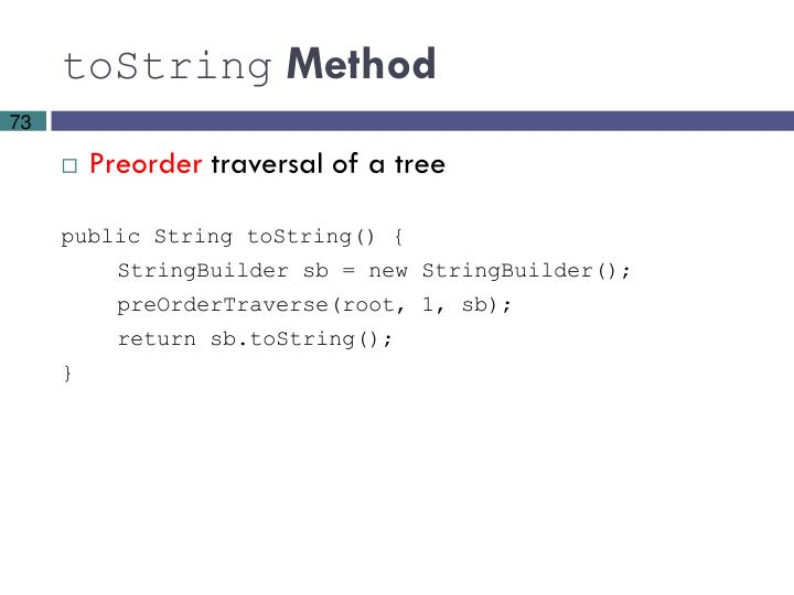 toString