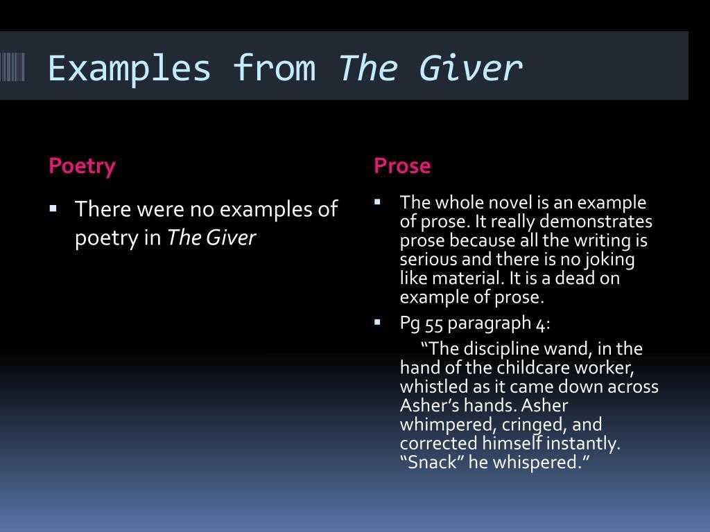 Ppt Poetry Vs Prose Vivi Frear Powerpoint Presentation Id2232402