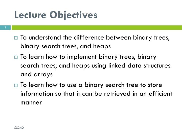 lecture objectives n.