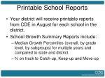 printable school reports