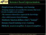 instance based representation