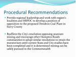 procedural recommendations2
