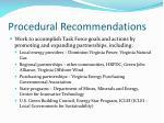 procedural recommendations3