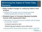 minimizing the impact of fewer data elements