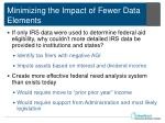 minimizing the impact of fewer data elements1