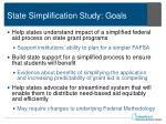 state simplification study goals