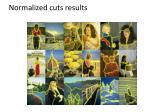 normalized cuts results