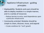 appliance infrastructure guiding principles1