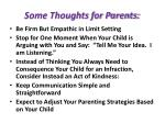 some thoughts for parents