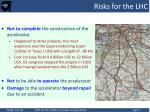 risks for the lhc
