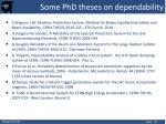 some phd theses on dependability