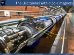 the lhc tunnel with dipole magnets
