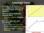 enzymatic rates
