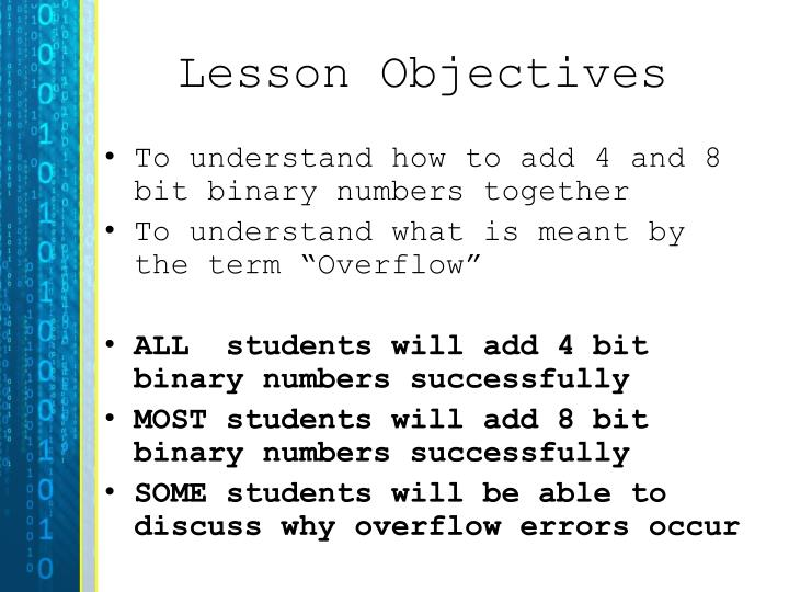 lesson objectives n.