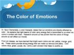 the color of emotions
