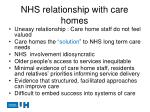 nhs relationship with care homes