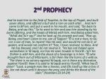 2 nd prophecy