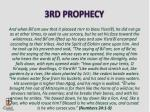 3rd prophecy