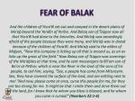 fear of balak