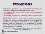 two messages