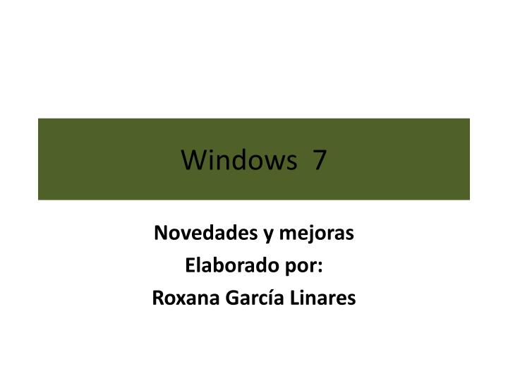 windows 7 n.