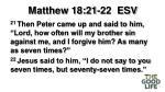 matthew 18 21 22 esv
