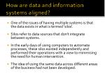 how are data and information systems aligned5