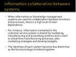 information collaboration between systems