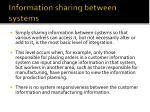 information sharing between systems