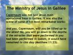 the ministry of jesus in galilee11