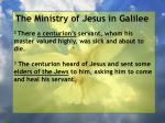 the ministry of jesus in galilee13