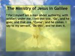 the ministry of jesus in galilee21