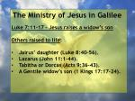 the ministry of jesus in galilee27