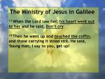 the ministry of jesus in galilee33