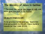 the ministry of jesus in galilee38