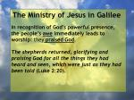 the ministry of jesus in galilee41