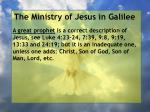 the ministry of jesus in galilee42
