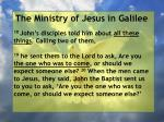 the ministry of jesus in galilee50