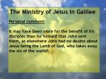 the ministry of jesus in galilee52