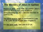 the ministry of jesus in galilee57