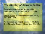 the ministry of jesus in galilee60