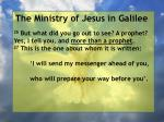 the ministry of jesus in galilee65