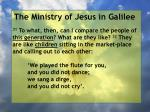 the ministry of jesus in galilee74