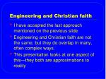 engineering and christian faith
