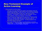 new testament example of active learning1