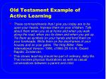 old testament example of active learning