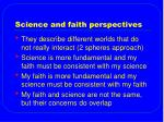 science and faith perspectives
